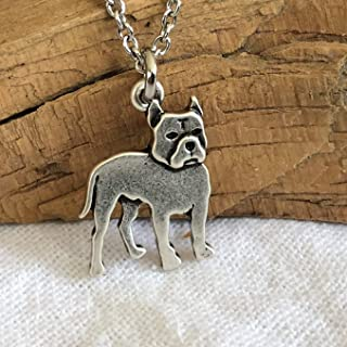 Pitbull Dog Necklace on Stainless Steel Chain - Pitty Dog Breed Jewelry - Dog Mom Gift
