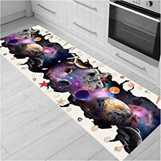 3D Runner Rug for Hallway, Cuttable Carpet Runners with Anti Slip Backing, Kitchen Area Rugs for Hall Entrance Doorway, Th...