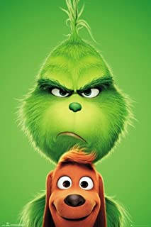 Animation The Grinch & Max 2018 Movie Promo Poster Variant 24 in x 36 in Dr. Seuss