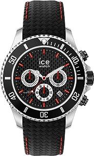 Ice-Watch - Ice Steel Black Racing Chrono - Montre Noire pour Homme avec Bracelet en Cuir - Chrono - 017669 (Large)