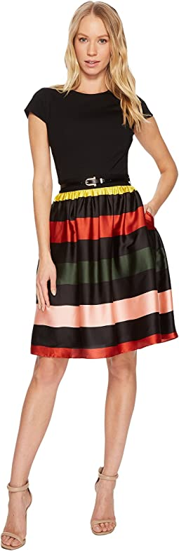 Aneli Cruise Stripe Bow Midi Dress