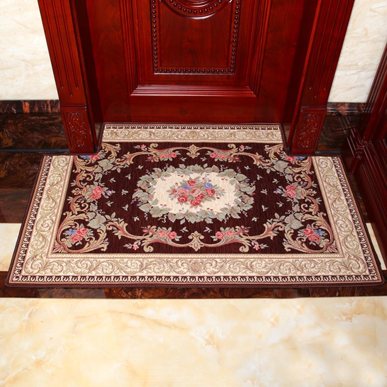 European-Style Floor Mats Non-Slip Mat Water-Absorbing Mats Doormat Door,Entrance,Bathroom,Kitchen Floor Mats-A 120x120cm(47x47inch)