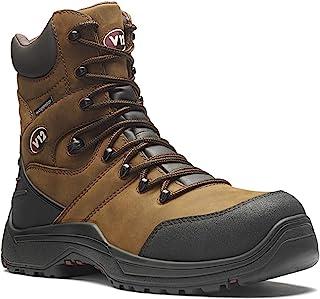 V12 Rocky, Waterproof Zip Side High-Leg Safety Boot, Size 08, Brown V1255.01/08