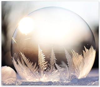 Kış Küresi Desenli | Cam Ocak Arkası Koruyucu (52cm x 60cm)