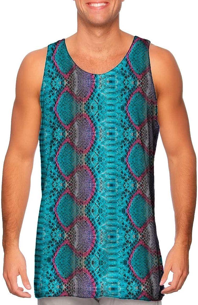 Yizzam-- Sunrise Snake Bi Color Skin Pattern -Tshirt- Mens Tank Top
