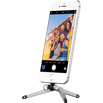 Kenu Stance Mini Tripod Stand, Pocket-Sized Tripod Mount Cell Phone Holder, Compact Size with Built In Key Ring, Compatible with Latest iPhones