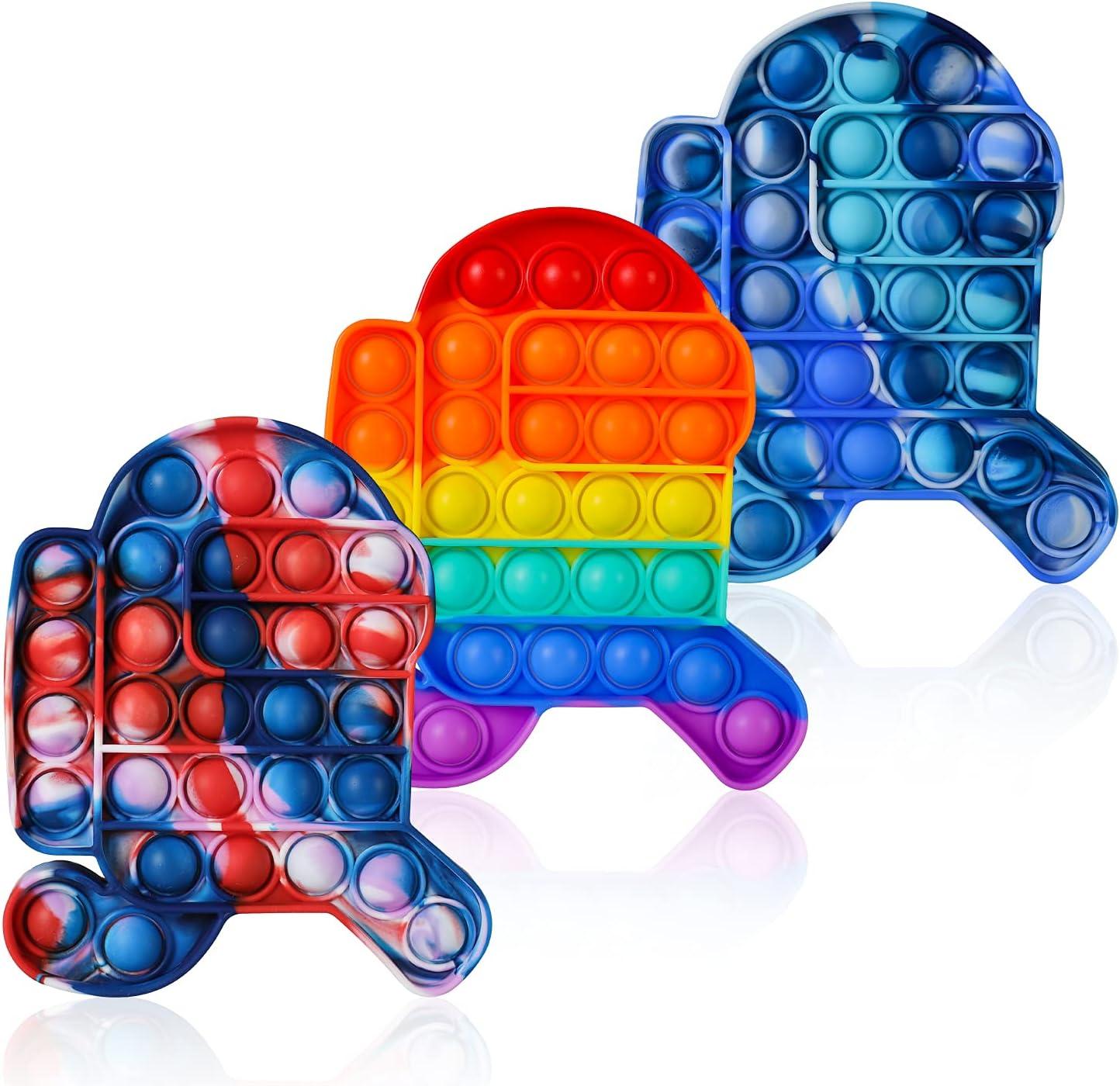 3 Pack Among Pop its it us Push Bubble Fidget Toys, LIMURU 3