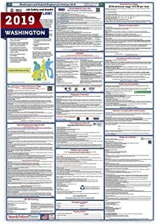 2019 Washington Labor Law Posters (Laminated) All-in-One State and Federal Approved, OSHA Compliant Vertical 27