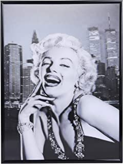 3D Marilyn Monroe Poster Black and white photo Wall Decor Lenticular Posters & Pictures with Poster Sticker for Living Room, Bedroom, Hotel, Dining Room Holographic Pictures 12x16 Inch Ready to Hang