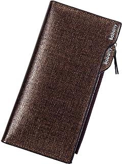 حقيبة يد رجالية طويلة من Fashion مزودة بسحاب متعددة الوظائف (اللون: بني، المقاس: M)