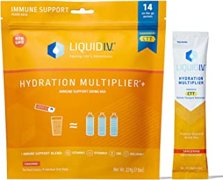 Liquid I.V. Hydration Multiplier + Immune Support, Easy Open Packets (Natural Tangerine Flavor, 42 Count)
