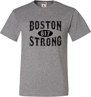 Go All Out Adult Boston Strong 617 T-Shirt