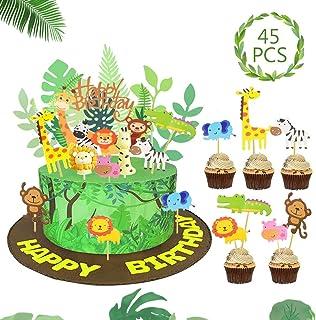 SPECOOL Animales Cupcake Toppers Decoración Tarta de Niños