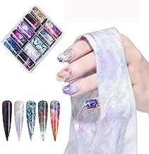 10Sheets 3D Nail Foils Holographic Nail Art Decoration Laser Transfer Decals Sticker Pattern DIY Sticker Transfer Decals Nail Art Stickers (starry sky)