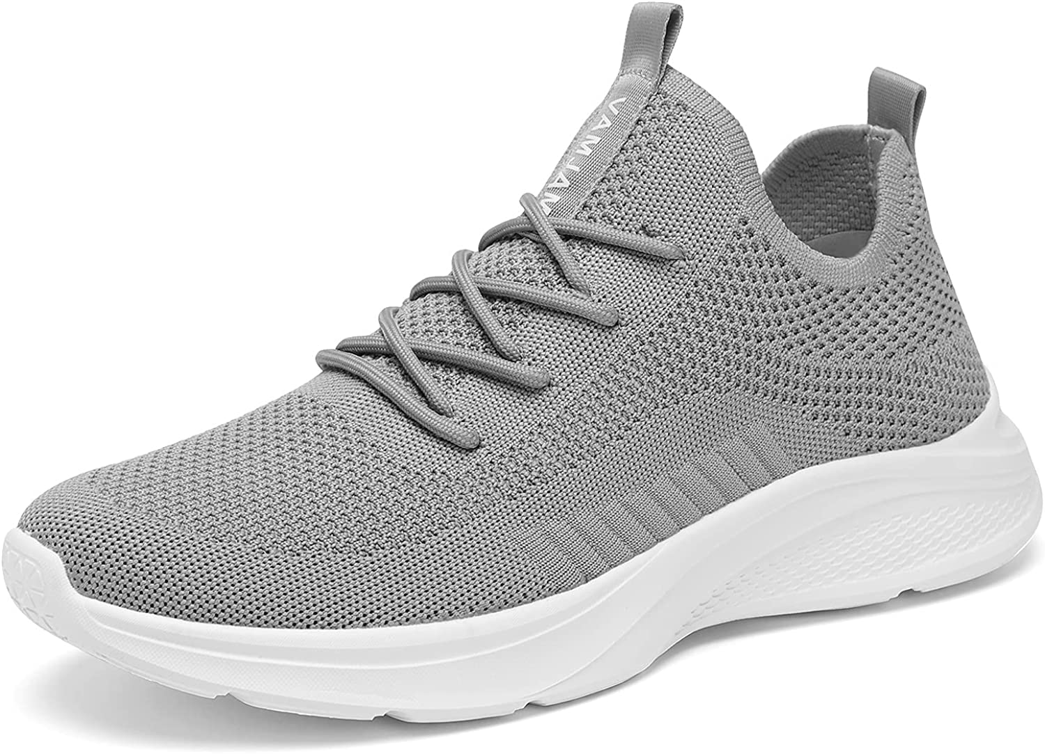 VAMJAM Men's Running Shoes Fashion Sneakers - Lightweight Breathable Flying Knitting Lace Up Mesh Walking Shoes Workout Casual Sports Shoes