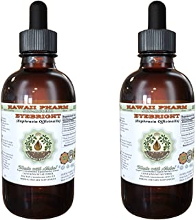 Eyebright Alcohol-Free Liquid Extract, Organic Eyebright (Euphrasia officinalis) Dried Herb Glycerite Hawaii Pharm Natural...