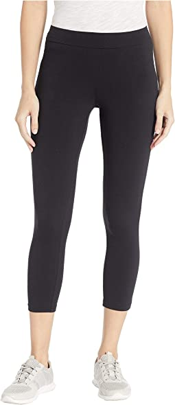 Wide Waistband Blackout Cotton Capri Leggings