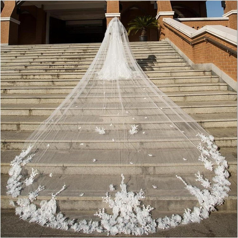 Regular dealer YYOBK Ts Two-Layer Long Mopping Bridal Wedding trend rank Two-Colo 5m Veil