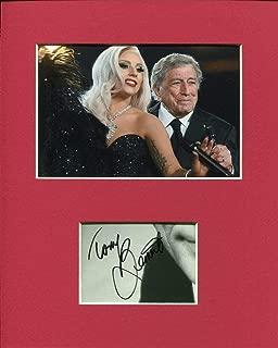 Tony Bennett Rare Jazz Singer Rare Signed Autograph Photo Display W/Lady Gaga
