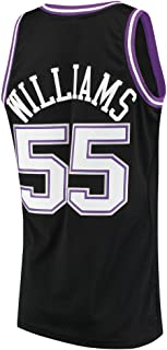Men's Williams Jersey Basketball 55 Jerseys White Chocolate Jason Jersey Black(S-XXL)