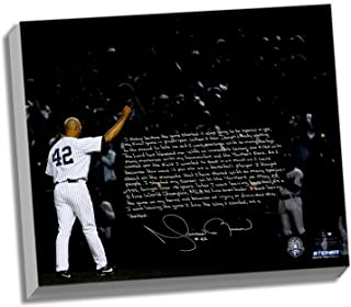 MLB New York Yankees 22x26 Mariano Rivera Facsimile 'Last Game in Pinstripes' Story Stretched Canvas