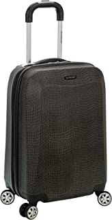 20 Inch Polycarbonate Carry On, Crocodile, One Size