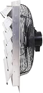 Fanpac S242 Wall-Mounted 2-Speed Shutter Exhaust Fan, 24