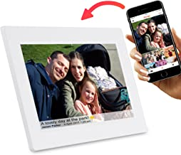 Feelcare 10 Inch Smart WiFi Digital Photo Frame with Touch Screen, IPS LCD Panel, Built in 8GB Memory, Wall-Mountable, Portrait&Landscape, Instantly Sharing
