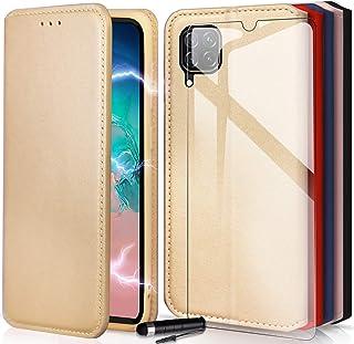 KONTARBOOR skal mobiltelefonfodral magnetisk förslutning väska läder flip fodral plånbok etui skyddsskal för (Huawei P40 L...