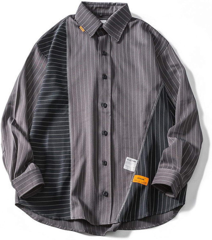 HOSD Nueva Camisa Juvenil Camisa a Rayas de Costura para ...