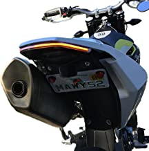 BikeLiteZ Supermoto Fender Eliminator Tail Tidy Integrated LED Tail Light to fit 16-19 Husqvarna 701 (Clear)