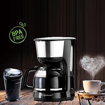 Aigostar - molinillo de cafe y cafetera goteo, negro,BPA free ...