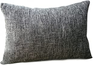 Riverbyland Linen Decorative Throw Pillows Cover Dark Gray 17 x 11