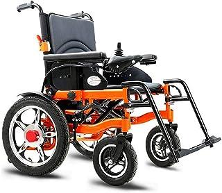 Sillas de ruedas eléctricas para adultos Silla de ruedas eléctrica for trabajo pesado, plegable y ligero silla de ruedas eléctrica, Asiento Ancho 51cm, 360 ° Joystick, Capacidad de peso 100 kg, 15Ah P