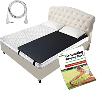 Grounding Mat, Grounding Therapy Sleep Pad Grounding Mat Grounding Conductive Carbon Leatherette for Better Sleep, Relieve...