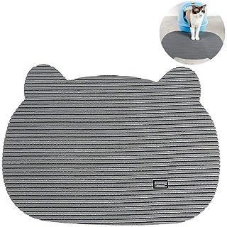 Non Skid Mat Dog Placemat Cat Litter Mat Designer Dog Food Mat Blue Gray White Waterproof Pet Mat Cat Food Mat Choose Your Size