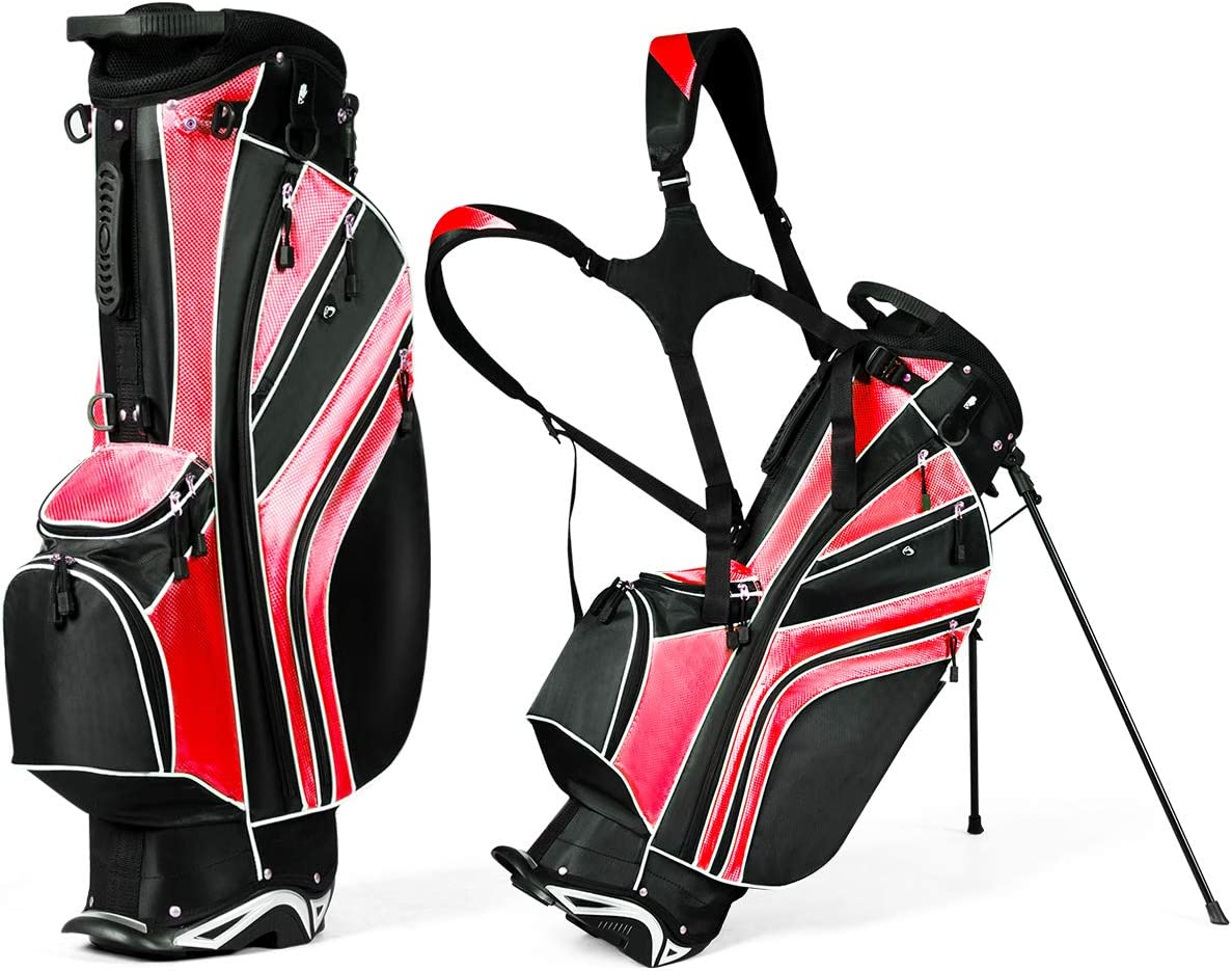 GYMAX Golf Weekly update Stand Bag 6 Way Divider with Straps Courier shipping free shipping L Carry