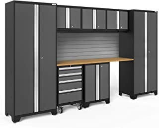 NewAge Products Bold 3.0 Gray 8 Piece Set, Garage Cabinets, 50405