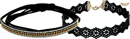 GUESS - Wrap Look Rhinestone Choker w/ Bow Front