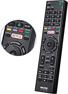 EWO'S RMT-TX100U Universal Remote Control, Suitable for All Sony-TV-Remote Sony LCD LED HDTV Smart bravia TVs, with Netfli...