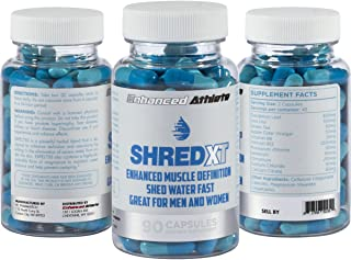 Enhanced Athlete Shred XT - Performance Diuretic Supplement - Water Pills to Reduce Water Retention - Natural Relief from Bloating and Swelling - 90 Capsules