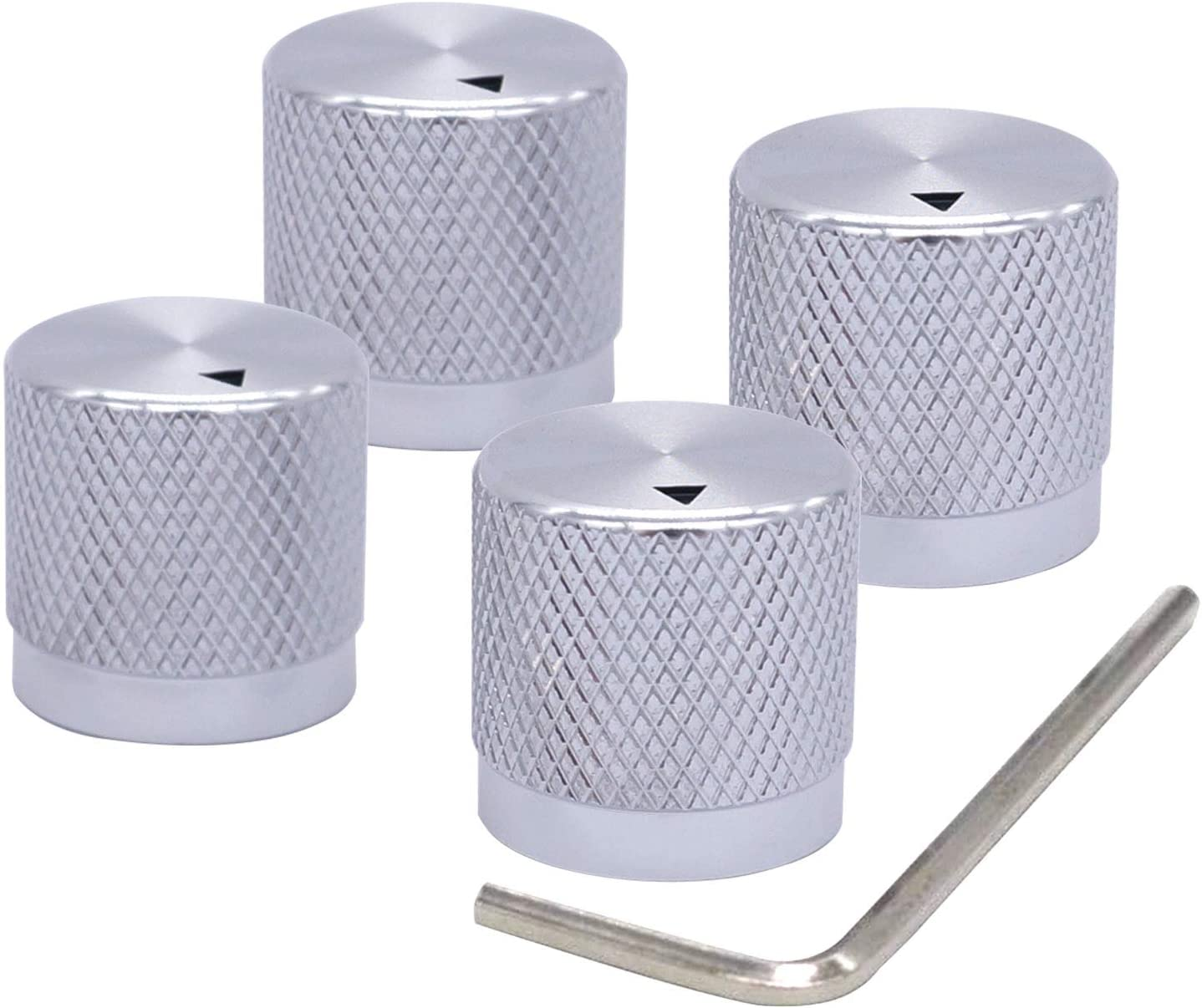 Taiss Milwaukee Mall 4pcs Silver Color Miami Mall Aluminum Pote Electronic Control Rotary