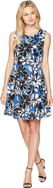 Gabby Skye Womens Printed Trapeze Dress