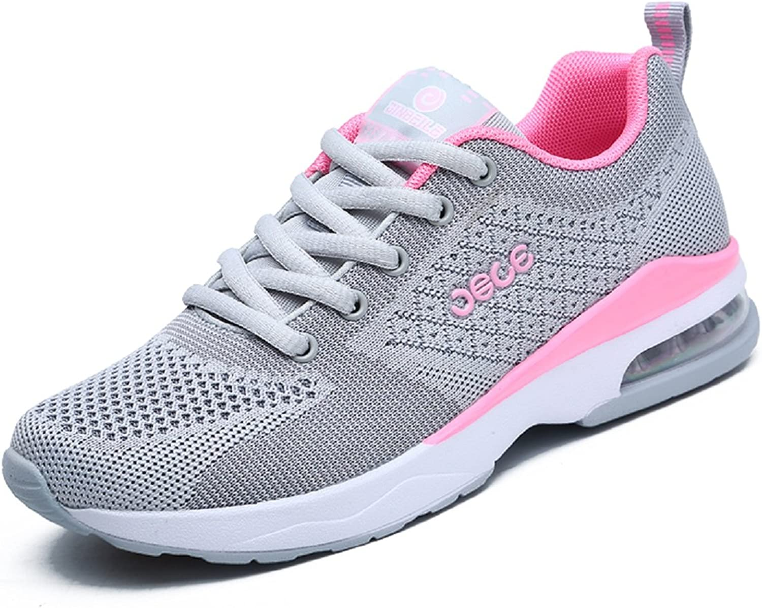 Running shoes Air Cushion Casual Sports Yoga Fitness Gym Exercise Low Top Lace Up Anti- Slip Womens Sneakers