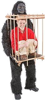動物 コスプレ ゴリラ 檻の中の人質 大人【スタンダードサイズ】
