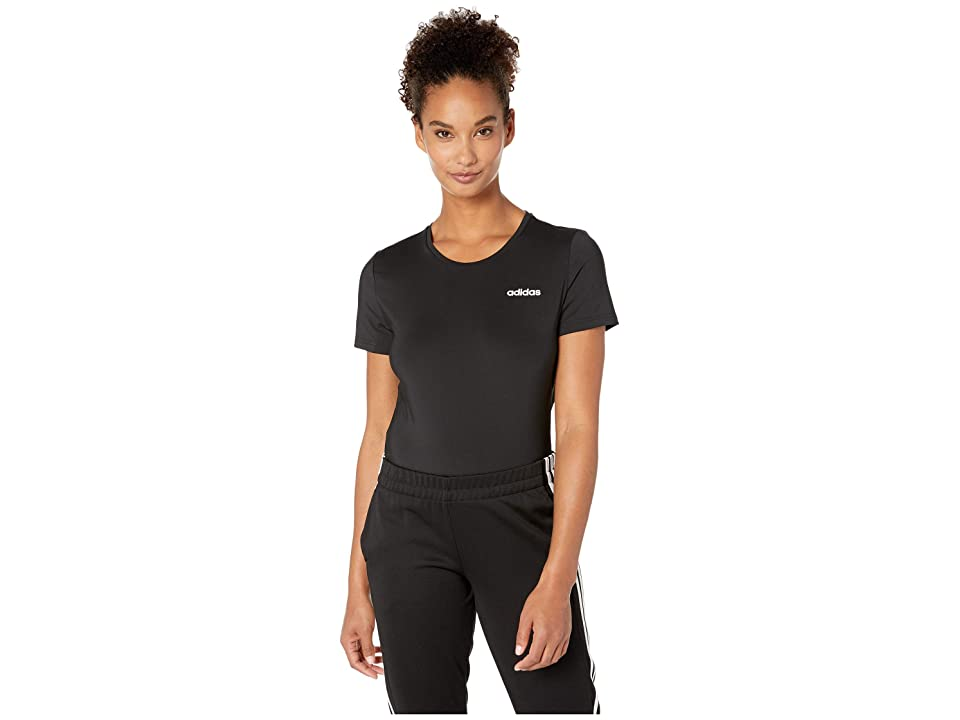 adidas Designed-2-Move Solid Tee (Black) Women's T Shirt