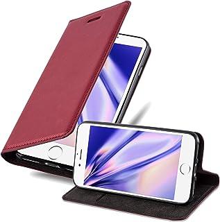 Cadorabo Funda Libro para Apple iPhone 6 / iPhone 6S en Rojo Manzana – Cubierta Proteccíon con Cierre Magnético, Tarjetero y Función de Suporte – Etui Case Cover Carcasa