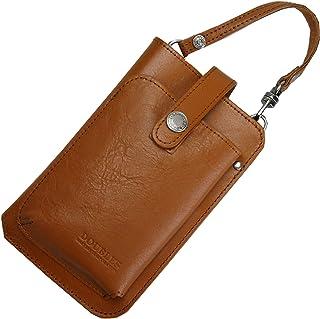 [ダブルス]スマホポーチ ショルダー iPhone ポーチ ベルト 携帯入れ 斜めかけポシェット 本革 レザー JYS-7355