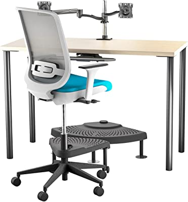 Neutral Posture Chuck Norris Healthy Office Standing Height Table Aqua