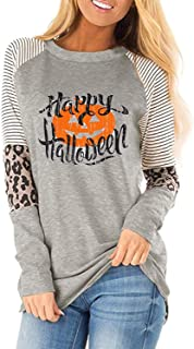Plus Size Funny Halloween Shirt for Women Long Sleeve...